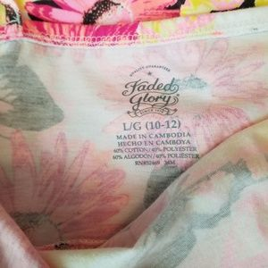 Faded Glory Dresses - Faded Glory Girl's Floral & Butterfly Dress